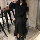 Midi Shirtdress Black - One Size