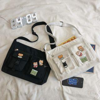 Cartoon Canvas Messenger Bag