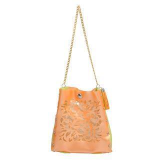 Oriental Crossbody Bag Orange & Green - One Size