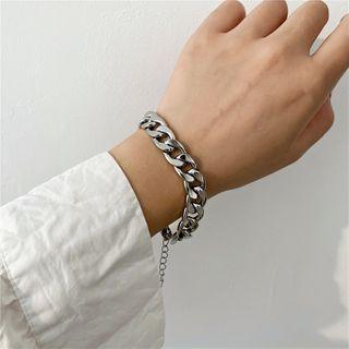 Chunky Chain Stainless Steel Bracelet Bracelet - 1 Pc - Silver - One Size