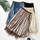 Reversible Pleated Midi Skirt