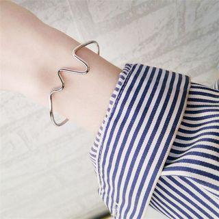 Heart Beat Open Bangle