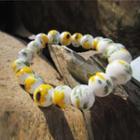 Ceramic Bead Bracelet Yellow & Green - One Size