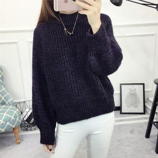 Long-sleeve Dip-back Sweater