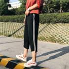 Striped Cropped Straight-cut Pants