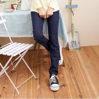 Elastic-waist Straight-cut Jeans