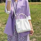 Top Handle Shirred Crossbody Bag