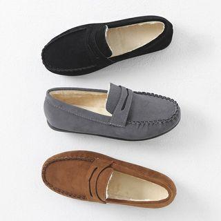 Faux-fur Lined Penny Loafers