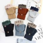 Color-panel Knit Gloves