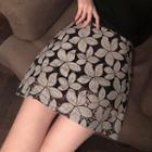 Mini Floral A-line Skirt