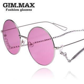 Colored Lens Round Sunglasses