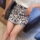 Printed Miniskirt