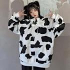 Milk Cow Print Sweatshirt