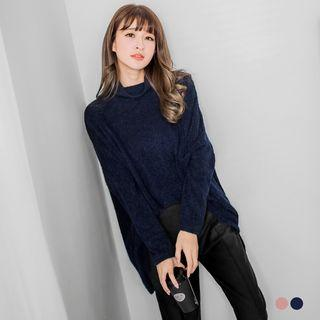 Slouchy Funnel-neck Sweater