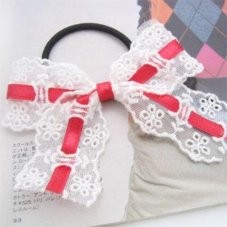 Ribbon Lace Hair B& - Red