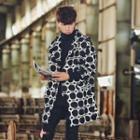 Geometric Print Hooded Jacket