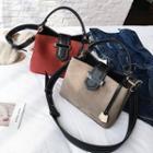 Color Block Bucket Shoulder Bag