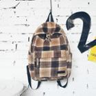 Plaid Woolen Backpack