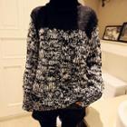 Turtleneck Color-block Sweater