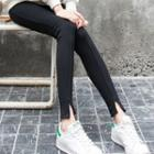 Notch Hem Leggings
