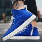 Plain Canvas High-top Sneakers