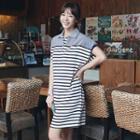 Short-sleeve Striped Polo Dress