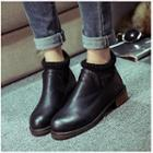 Knit Panel Ankle Boots
