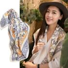 Printed Neck Scarf As Shown In Figure - One Size
