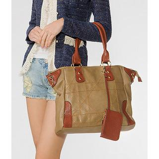 Stitched Tote Light Brown - One Size