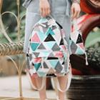 Patterned Canvas Backpack Multicolor - One Size