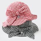 Plaid Bow Bucket Hat