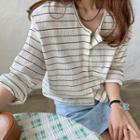 Striped Textured Cardigan