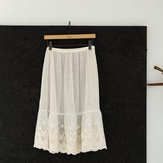 Lace-hem Inner Skirt