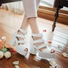 Chunky Heel Platform Gladiator Sandals
