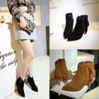 Tasseled Genuine Leather Ankle Boots