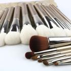 Set Of 18: Make Up Brushes + Pouch