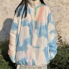 Reversible Faux-shearling Zip Jacket As Shown In Figure - One Size