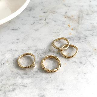 Band Ring Stacking Set Of 4 Gold - One Size