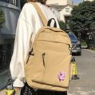 Pig Applique Nylon Backpack