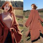 Open-front Maxi Cardigan With Sash