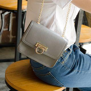 Chain Strap Buckled Cross Bag