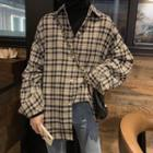 Plaid Shirt / Mock Neck Top