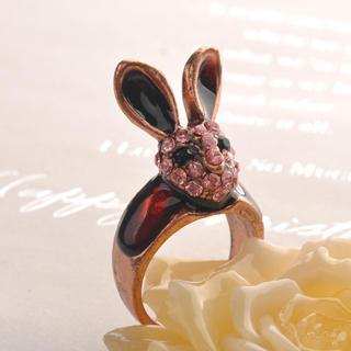 Head Of Rabbit Ring Copper - One Size