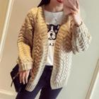 Cable-knit Chunky Cardigan