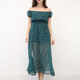 Polka-dot Chiffon Dress