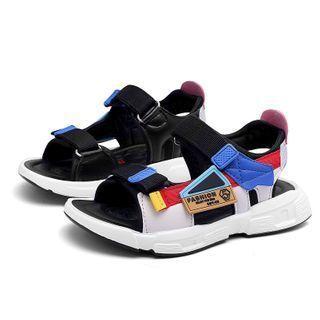 Color-block Platform Sandals