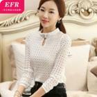 Embellished Long-sleeve Blouse