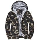Hooded Camo Fleece Lined Jacket