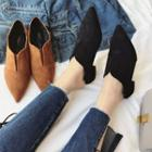 Faux-suede Pointed Flats
