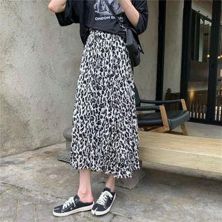 Leopard Print Midi Skirt Leopard - One Size